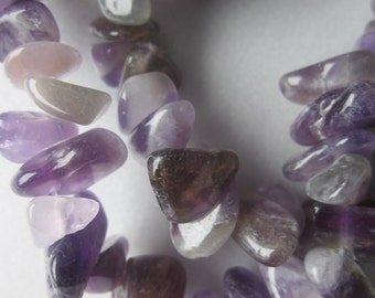 Amethyst Natural Chip Beads 8-14mm Chunky Nugget 24 Beads