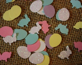 200 Easter Bunnies and Eggs Confetti