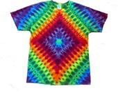 Tie Dyed Rainbow Diamond Tee Shirt