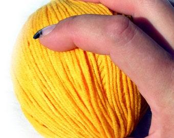 Lanoso Alara cotton Yarn. Yellow (913). Cotton yarn. DSH(P3)