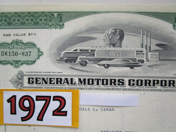 Vintage 1972 gm general motors stock by originalantiquemaps for L and m motors athens tn