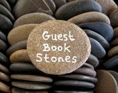 50 Guest Book Stones Wedding Rocks Flat Rocks Wishing Stones Memorial Stones Message Rocks Wish Stones Craft Stones LARGE 1.7 - 2 inch