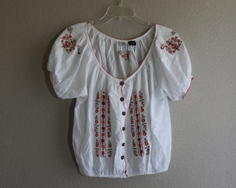 indian embroidered crop tip- bohemian boho chic