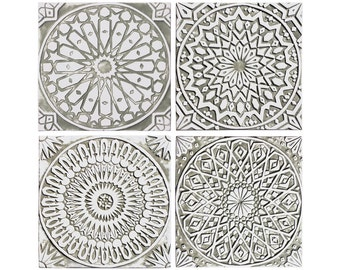 Beau 4 Moroccan Wall Hangings Made From Ceramic   Set Of 4   Moroccan Wall Art