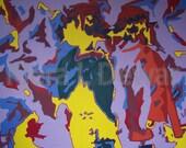 First Kiss - Original Acrylic Painting on Canvas -Artist Kiera L Dewar