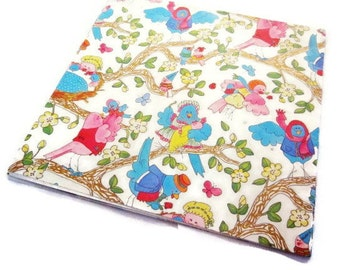 Vintage Gift Wrap - One Sheet Wrapping Paper - New Baby Bird Family - Norcross