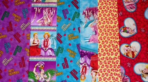 I Love Lucy Fabric Escapades Series Lucy By Trinketsintheattic