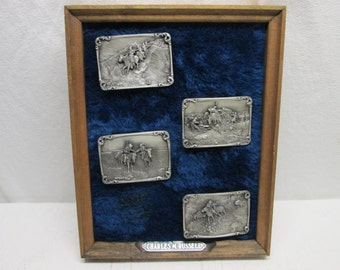Western Belt Buckles, Charles M. Russell 1983, old/new