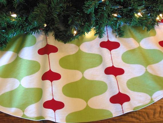 48 or 54 Mid Century Modern Christmas Tree Skirt