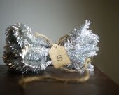 Silver Tinsel, Wired, 5 Yards, Package Trim, Holiday Valentines Decorating and Crafting