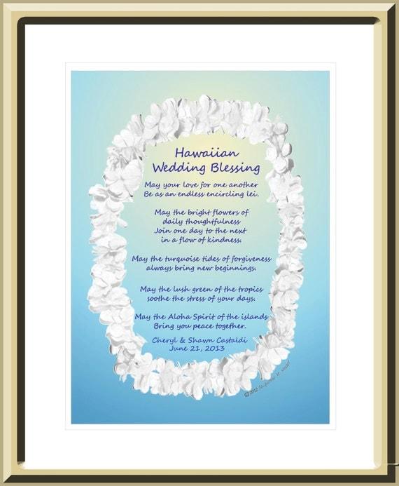 Personalized Wedding Gift Hawaiian Wedding Blessing - original theme ...