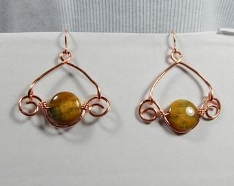 Golden Pietersite Earrings