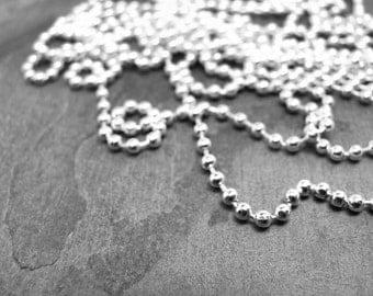 """10 Ball Chain Necklaces 30"""" long 2.5 mm diameter Complete Necklaces Bulk Lot"""