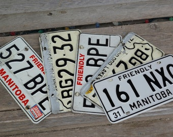 5 Manitoba Canada Licence Plates 1
