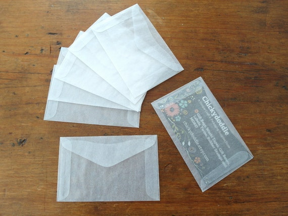 Mini Glassine Envelopes Business Card Envelope Gift Card