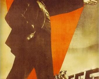 LENIN / From NEP Russia a Socialism Russia shall emerge (Lenin) / Soviet poster, soviet propaganda, propaganda, ussr, soviet union, 1930