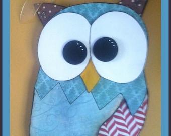Owl Door Hanger  Owl Wall Decor   Owl  Home Decor Wood Owl