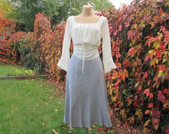Nice Gray Skirt / Skirt Vintage / Poly / Cotton / Size EUR44 / UK16