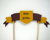 Harry Potter Cake Topper, Hogwarts Birthday cake topper, Harry Potter birthday cake topper