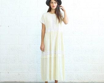 Eyelet Trim Party Dress , Ivory maxi dress.