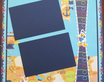 Donald Duck 12X12 Single Page Scrapbook Layout