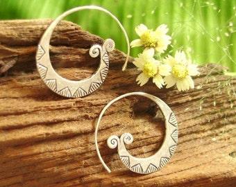 Silver earrings-The Swirl Eyes (2)