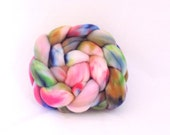 Hand dyed Targhee combed top / roving, 4 ounces