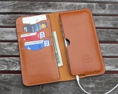 iPhone 6  -  Leather Wallet, No. 75, Whiskey Color Leather Case  - by GARNY  - ea