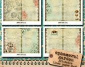 Printable Lined Journal Pages - ' Ephemeral Garden' Collection