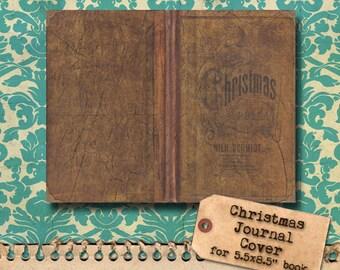 Vintage Christmas Printable Journal Cover