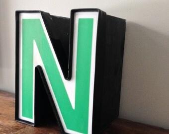 N - Reclaimed vintage letter - SALE
