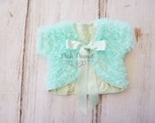 Mint Baby jacket, girls jacket, wrap, girls shrug, shrugs, girls cardigan, baby cardigan, baby, jacket, baby poncho, girls vest, baby vest