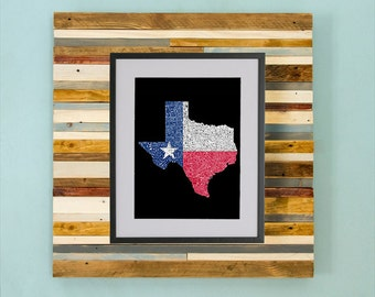 Texas County Map - Hand Drawing