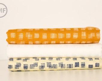 Fat Quarter Bundle Doe Weave, 3 Pieces, Carolyn Friedlander, Robert Kaufman Fabrics, 100% Cotton Fabric, AFR-15028
