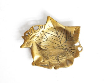 Brass Deer Trinket Dish