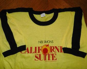 vintage California Suite T Shirt original movie memorabilia 70s ringer tee comedy film NOS