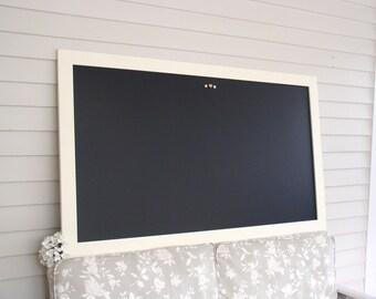 Magnetic Chalkboard Executive Office HUGE Modern - X Large Wet Erase Bulletin Board 35 x 60 inch Furniture Grade Handmade Hardwood Frame