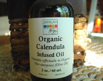 Skin Care - Calendula (Calendula officinalis) Infused Organic Olive Oil - Superlative Oil - Massage, Skin/Body Care, Calendula, 100% Organic