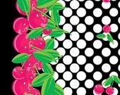 Cherry Galore in Black