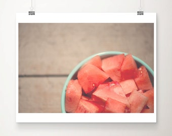 food photography watermelon photograph kitchen wall art food print watermelon print fruit photograph summer photograph rustic decor