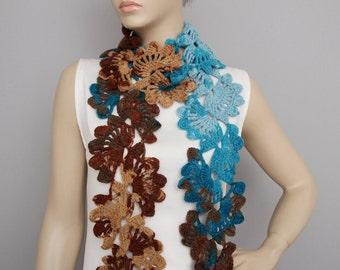 Crochet scarf, long crochet  scarf, woman scarf, gift,