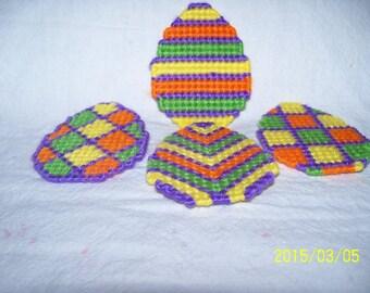 Easter Egg Magnets Set Of  4