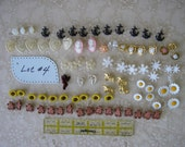 Lot #4 BUTTONS assortment for doll sewing, children, scrapbooking anchors heart daisies roses cupids