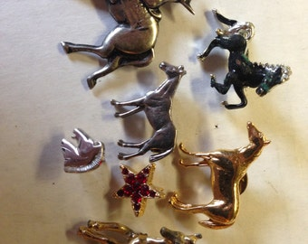 Horses Western Star Brooches Pins Vintage lot 503