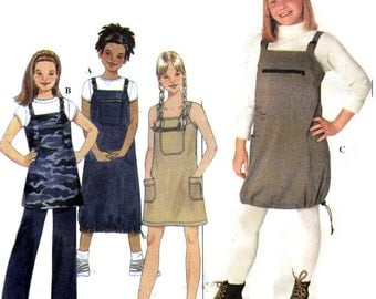 "Girls Jumper or Tunic Top and Flared Leg Pants Elastic Waistband Simplicity 8930 Breast 30-34"" Sizes 12-14-16"