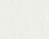 Rawhide Top Grain Upholstery Fabric - Authentic Leather Look and Feel - Upholstery - Handbags - Color:  White - per yard