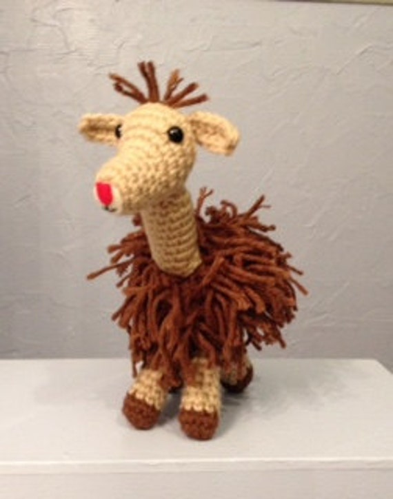 Amigurumi Alpacasso : Crocheted Alpaca Amigurumi Handmade stuffed animal by meddywv