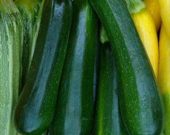 SALE! Zucchini Organic Heirloom Dark Green Non GMO Non Hybrid Rare Seeds