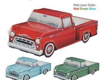 Truck Food Boxes / 6 count Pick your Color...'57 Chevy Truck Food Party Box Treat Box Party Favor