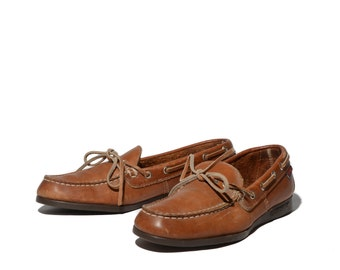 8.5 N | Women's Sebago Boat Shoe Loafers Brown Leather Slip On Casual Shoes